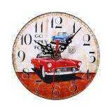 ขาย Creative Vintage Wooden Round Wall Clock Home Office Decoration 2 Intl Unbranded Generic ถูก