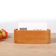 ขาย Creative Wooden Business Card Holder Case Organizer Office Desktop Ornaments Wooden Color Intl Unbranded Generic ใน จีน