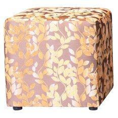 ขาย เก้าอี้ Cube รุ่นStool ลาย Flower Gold ขนาด 45X45X45 ซม ออนไลน์