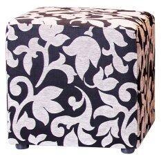 โปรโมชั่น เก้าอี้ Cube รุ่น Stool ลาย Flower Silver ขนาด 45X45X45 ซม ไทย