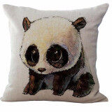 ราคา ราคาถูกที่สุด Cute Animal Printed Cushion Cover Lovely China Panda Throw Pillow Cases Polyester Cotton Linen Pillowcase