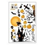 ความคิดเห็น Cute Halloween Removable Sticker Pumpkin Ghost Wall Sticker Window Sticker Decor Intl