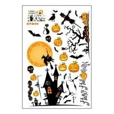 ขาย Cute Halloween Removable Sticker Pumpkin Ghost Wall Sticker Window Sticker Decor Intl ใหม่