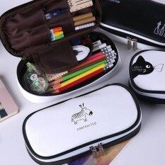 ส่วนลด สินค้า Cute Pen Pencil Case Animals Stationery Makeup Cosmetic Travel Sch**l Bag Purse