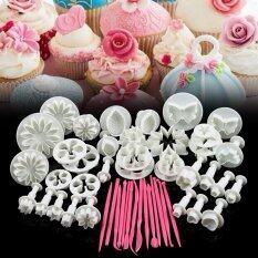 ส่วนลด Cyber 47Pcs Flower Sugarcraft Fondant Icing Plunger Mold Mould Cake Decorating Tools White Unbranded Generic