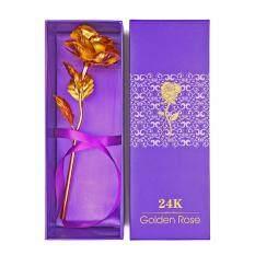 ซื้อ ดอกกุหลาบชุบทอง 24 K สีทอง ออนไลน์ ถูก