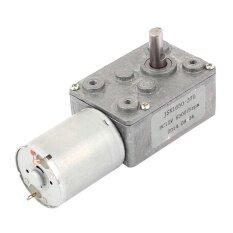 ขาย Dc 12V 6Mm Shaft 5Rpm High Torque Turbine Worm Gear Box Reduction Motor Sliver Intl จีน