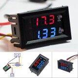 ซื้อ Dc Voltmeter Ammeter Led Dual Digital Volt Amp Meter Gauge Red Blue Dc 100V 10A Intl Unbranded Generic ออนไลน์
