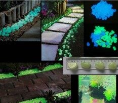 ราคา Decorative Gravel Garden Or Yard 100 Glow In The Dark Sky Blue Noctilucent Pebbles Stones For Walkway Park Ornaments ราคาถูกที่สุด