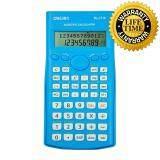 ขาย Scientific Calculator เครื่องคิดเลขวิทยาศาสตร์ สีฟ้า ยี่ห้อ Deli รุ่น 1710A ใหม่