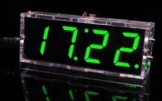ขาย ชุดนาฬิกา Diy ดิจิตอลขนาดกะทัดรัด 4 หลัก Diy นาฬิกานำอุปกรณ์เสริมแสงควบคุมอุณหภูมิคณะกรรมการวันที่เวลาโปร่งใสกรณี