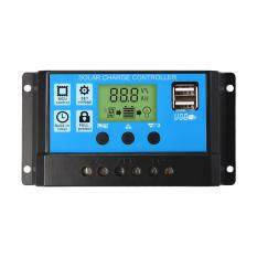 ซื้อ Digital Lcd Display 20A Solar Dual Usb Charge Controller Regulator 12V 24V ถูก กรุงเทพมหานคร