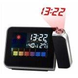 ราคา ดิจิตอลจอแอลซีดีโปรเจคเตอร์นาฬิกาปลุกสถานีอากาศที่มีสีสันฉายในร่ม นานาชาติ Unbranded Generic ใหม่