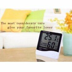ขาย เครื่องวัดอุณภูมิและความชื้น พร้อมฟังก์ชั่นนาฬิกาปลุก สีขาว Digital Lcd Thermometer Hygrometer Temperature Humidity Meter Gauge Alarm Clock ถูก กรุงเทพมหานคร