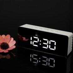 ซื้อ Digital Led Mirror Clock 12H 24H Alarm And Snooze Function �C �F Indoor Thermometer Adjustable Led Luminance Intl Unbranded Generic เป็นต้นฉบับ