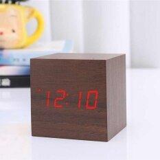 ราคา ดิจิตอลไม้โต๊ะนาฬิกาปลุกควบคุมด้วยเสียงตกแต่งบ้าน นานาชาติ Oobest จีน
