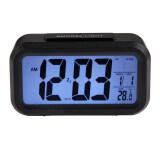 ราคา ดิจิตอลอิเล็กทรอนิกส์นาฬิกาปลุกปฏิทินเลื่อนกับแบล็คไลท์ควบคุม สีดำ ใหม่ล่าสุด