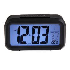 ราคา ดิจิตอลอิเล็กทรอนิกส์นาฬิกาปลุกปฏิทินเลื่อนกับแบล็คไลท์ควบคุม สีดำ เป็นต้นฉบับ