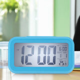 Digital Time Date Temperature Display Led Alarm Blue White Light จีน