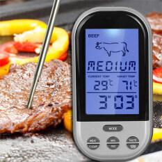 ราคา Digital Wireless Remote Kitchen Oven Food Cooking Bbq Grill Smoker Meat Thermometer With Probe And Timer Temperature Gauge Alert Intl ราคาถูกที่สุด