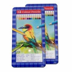 ราคา ดินสอสีไม้ 12สี กล่องเหล็ก 2กล่อง ออนไลน์ ไทย