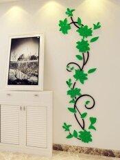 โปรโมชั่น Diy 3D Acrylic Crystal Wall Stickers Living Room Bedroom Tv Background Home Intl