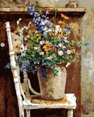 Diy Paint By Number Kit อะคริลิคภาพวาดสีน้ำมันบนผ้าใบกระถางต้นไม้ตกแต่งบ้าน.