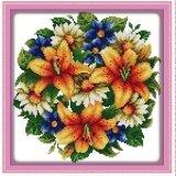 โปรโมชั่น ปักครอสติสเย็บปักถักร้อย Cross Stitch Flower Pattern Diy 3D Handmade 14Ct Printed Pattern Needlework Embroidery Cross Stitch Kit จีน