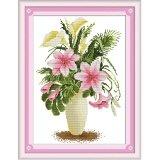 ราคา ปักครอสติสเย็บปักถักร้อย Cross Stitch Flower Pattern Diy 3D Handmade 14Ct Printed Pattern Needlework Embroidery Cross Stitch Kit เป็นต้นฉบับ