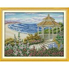 ราคา ปักครอสติสเย็บปักถักร้อย Cross Stitch Beach Landscape Pattern Diy 3D Handmade 14Ct Printed Pattern Needlework Embroidery Cross Stitch Kit Joy Sunday ออนไลน์