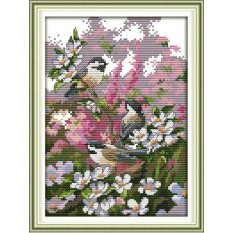 ขาย ปักครอสติสเย็บปักถักร้อย Cross Stitch Sparrow Birds Animal Pattern Diy 3D Handmade 14Ct Printed Pattern Needlework Embroidery Cross Stitch Kit ผู้ค้าส่ง