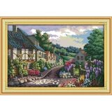 ราคา ปักครอสติสเย็บปักถักร้อย Cross Stitch Landscape Scenery Mediterranean Pattern Diy 3D Handmade 14Ct Printed Pattern Needlework Embroidery Cross Stitch Kit ใหม่ล่าสุด