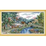 ซื้อ ปักครอสติสเย็บปักถักร้อย Cross Stitch Landscape Scenery Countryside Pattern Diy 3D Handmade 14Ct Printed Pattern Needlework Embroidery Cross Stitch Kit ใหม่ล่าสุด