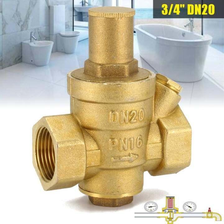 """โปรโมชั่น DN20 3/4"""" Adjustable Brass Water Pressure Regulator Reducer W"""