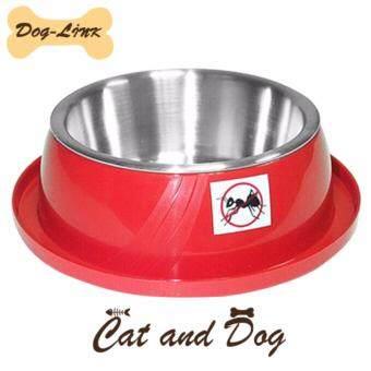 Dog-Link ชามอาหารกันมด (สีแดง)