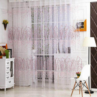 [uebfashion] 1pcs Door Window Room Curtain (Pink)(Note:you may need 2pcs)-