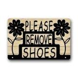 ซื้อ Doormat Floal Please Remove Your Shoes Sign Custom Indoor Outdoor Floor Mats Rug Intl ใหม่ล่าสุด