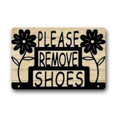ซื้อ Doormat Floal Please Remove Your Shoes Sign Custom Indoor Outdoor Floor Mats Rug Intl ออนไลน์ จีน