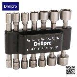 ส่วนลด Drillpro 14 ชิ้น 1 4 นิ้ว Hex Shank Power Nut Driver Drill Bit Set Sae Metric Socket Wrench สกรู Unbranded Generic จีน