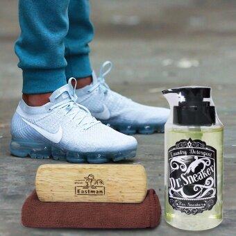 Dr.Sneaker ชุดน้ำยาทำความสะอาด อเนกประสงค์ + ผ้าไมโครไฟเบอร์ + แปรงขัดสำหรับทำความสะอาดรองเท้า กระเป๋า1