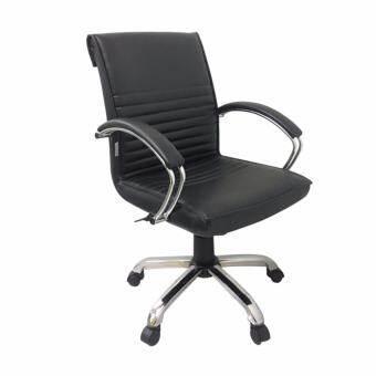 DSB Decor เก้าอี้สำนักงาน มีสวิงปรับโยก ปรับระดับได้ รุ่น CO006S-B  (สีเบาะดำ/ขาชุป) -