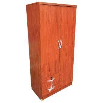 DSB Decor ตู้เสื้อผ้า 2 บานเปิด ขนาด 80 cm (สีสัก)-