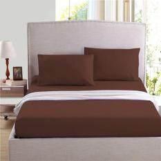 ซื้อ Dsd 002 ชุดผ้าปูที่นอน 5 ชิ้น 5 ฟุต พื้นสีน้ำตาลเข้ม ใหม่ล่าสุด