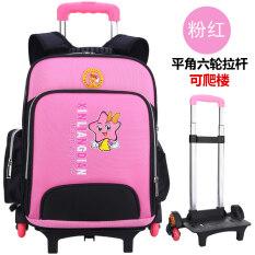 ขาย Dual ใช้บันไดปีนสำหรับผู้ชายและผู้หญิงกันน้ำรถเข็นกระเป๋านักเรียนชั้นประถมศึกษากระเป๋าเป้สะพายหลัง ถูก