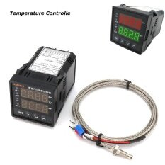 Dual Digital Display Plc Pid Temperature Controller Furnace Kiln Thermocouple Intl แองโกลา