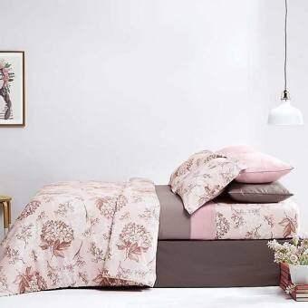 Dunlopillo ผ้าปูที่นอน รุ่น Softatex 6 ฟุต 5 ชิ้น DL-02B bedspread bedsheet bedcover