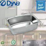 ซื้อ Dyna Home ซิงค์ล้างจาน หนึ่งหลุม สแตนเลส อ่างล้างจาน Sink แบบฝังหนา 8Mm รุ่น Dh 7050 ก๊อกน้ำเซรามิกส์วาว ออนไลน์ ถูก
