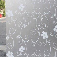 ซื้อ Everygo 60 เซนติเมตร X 200 เซนติเมตรดอกไม้หน้าต่างแรเงาสติกเกอร์ Self Adhesive N การปิดกั้นสำหรับห้องน้ำกระจกประตู Pvc สติกเกอร์ Frosted ใหม่