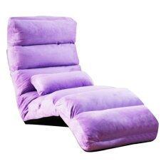 ขาย Easy เก้าอี้ปรับเอนได้ 3ระดับ ผ้ากำมะหยี่ พร้อมหมอน สีม่วง ถูก ใน สมุทรปราการ