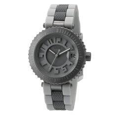 ราคา Edwin Bonded Lady Silicon Silver Grey Analogue Calendar Watch ราคาถูกที่สุด
